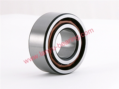 Crown steel cage double row angular contact ball bearing